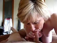 Mature blonde loves cock and cum